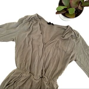 Guess Military Green Long Sleeve Romper